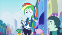 Rainbow Dash sees boy with ice cream EGDS42
