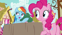 Rainbow pretends to enjoy lemon meringue pies S7E23