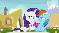"Rarity ""bothered to read the thing I like"" S8E17"