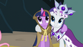 Rarity enjoying Twi company S2E11.png