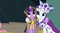 Rarity enjoying Twi company S2E11