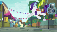 Rarity leaping with joy S6E3