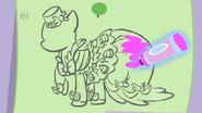 S01E14 Rarity koloruje szkic sukni Pinkie Pie