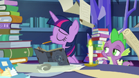 Twilight Sparkle shaking her head S7E25