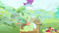 Water splashes onto Granny Smith S4E20