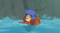 Yona floating down the stream S8E9