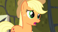 Applejack apologizing to Fluttershy S4E07