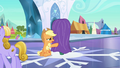 Applejack didn't want Rainbow to go away S3E2.png