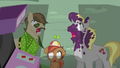 Button Mash, Hughbert Jellius, and Dance Fever in shock S5E9.png