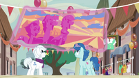 Double Diamond and Party Favor hang festival banner S6E25