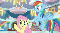 "Fluttershy ""everypony does at the Fete"" S9E7"