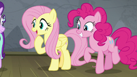 "Fluttershy ""she won't be embarrassed!"" S8E7"