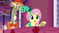 Fluttershy doesn't notice Discord S5E7
