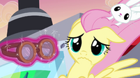 Fluttershy given a goggles S2E22