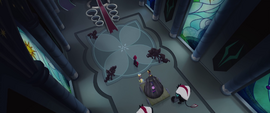 Overhead view of the throne room taken over MLPTM