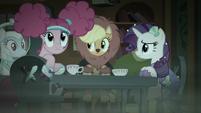 Pinkie Pie listening to Fluttershy S5E21