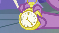 Pocketwatch in Spike's hand S9E26