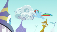Rainbow Dash moving the clouds S9E24