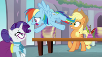 Rainbow Dash panics about being a teacher S8E1
