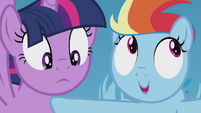Rainbow Dash very uncomfortable S5E25