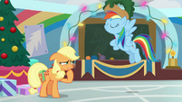 Rainbow Dash wearing Applejack's hat BGES1