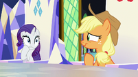 Rarity and AJ feel sorry for Sludge S8E24