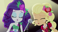 Rarity and Applejack singing together EG4