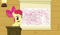 S06E04 Apple Bloom pokazuje mapę Equestrii
