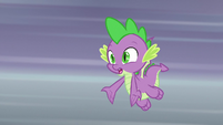 """Spike """"not going to return the book?"""" S9E5"""