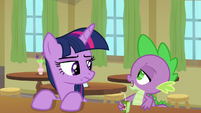 "Spike incredulous ""really?"" S9E5"