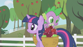 Spike looking through the apple basket S01E03.png