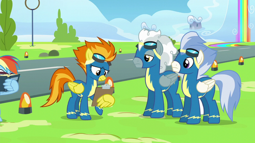 Spitfire holding a clipboard S6E7
