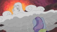 Sweetie sees Rarity-cloud laughing maniacally S4E19