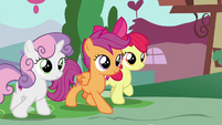 The Cutie Mark Crusaders walking S6E4