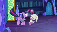 Twilight jumps in front of Spike S9E16