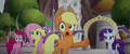 Applejack directing her friends to safety MLPTM.png