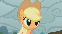 Applejack fed up by Rarity's lady-like whining S1E08