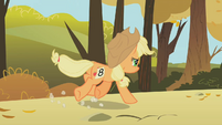 Applejack running view from behind S01E13