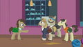 Dr. Hooves pointing at Letrotski and his friends S5E9.png