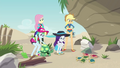 Fluttershy and friends meet the baby turtles EGDS14.png