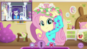 Fluttershy appears in group video call EGDS46