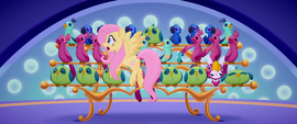 Fluttershy sees deflating balloon flying by MLPTM