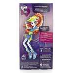 Friendship Games School Spirit Rainbow Dash doll back of packaging
