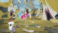 Gilda apologizes to Pinkie and Rainbow S5E8