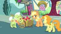 Golden Harvest walking towards the apple cart S4E23
