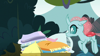 Ocellus sees the cart of pillows S8E2