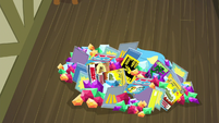 Pile of presents for Spike falls on Gabby S9E19