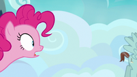 Pinkie Pie notices her pie in the trash S7E23