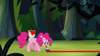Pinkie Pie painting line on the ground S4E04