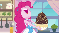Pinkie pulls out bowl of chocolate chips EGDS30